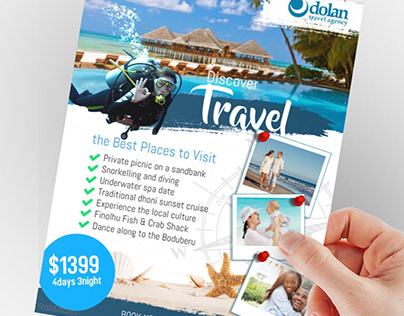 Travel Agency Flyer Ad Poster