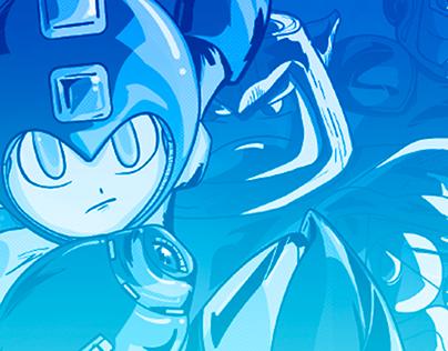 Androide vestido de azul/Ilustración para Game Report
