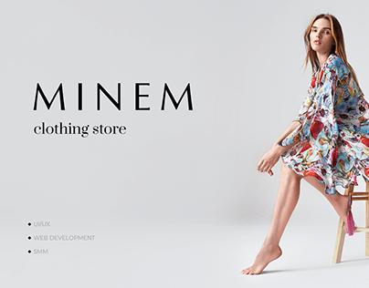 MINEM - e-commerce | clothing store
