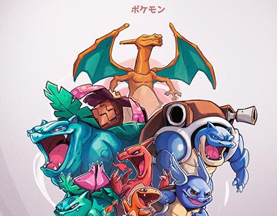 Pokemon-Kanto starters