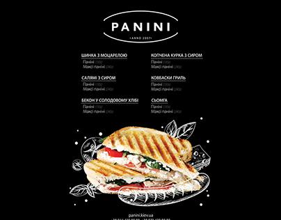 Фірмовий стиль, меню для PANINI