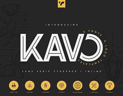 Kavo Inline Typeface   Free font