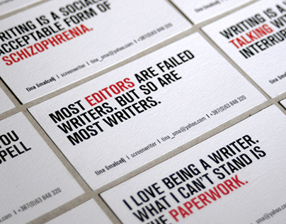 PLAYWRIGHT business card