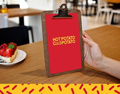 Hot Potato Cold Potato | Menu design