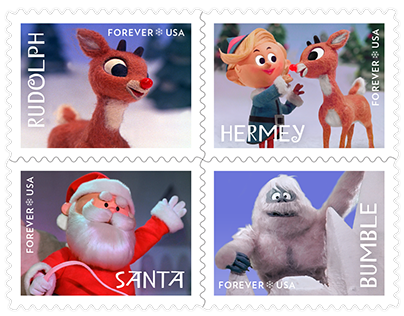 USPS Postage Stamp: Rudolph the Red-Nosed Reindeer