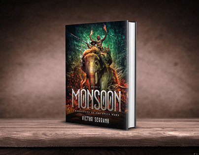 Monsoon book cover design