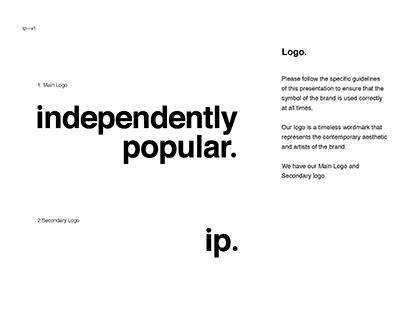 independently popular. record label brand guidelines