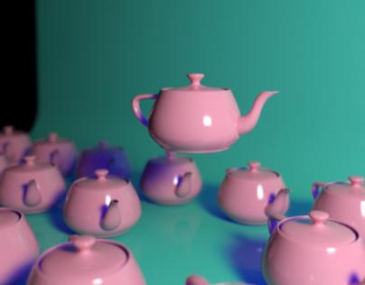 3D Render Teapot