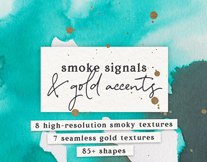 Watercolor and gold textures pack