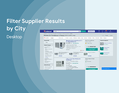 Filter Supplier Results by City - Location FIlter