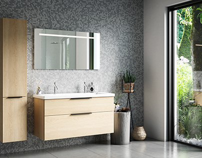 Burgbad - 3D Bathroom rendering