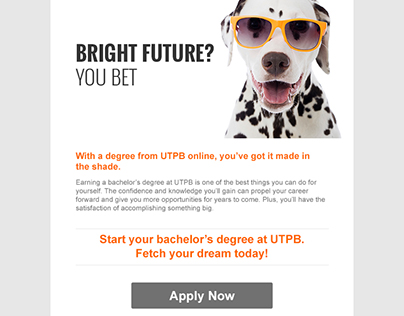 "UTPB ""Doggone Smart"" Email Series 2016"
