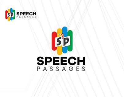 """""""Speech Passages"""" New Educational Business Brand Logo"""