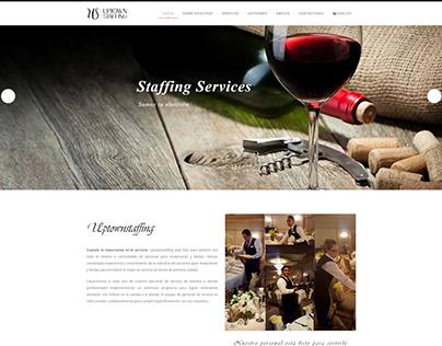 Diseño web para uptownstaffing