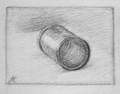 Still life with graphite pencil