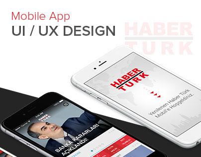 Haberturk - iOS UI/UX Design