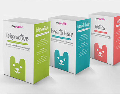 Packaging Design - MyPupillo (medicines for pets)
