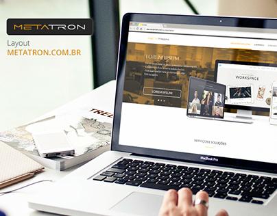 Layout - Site Institucional Metatron