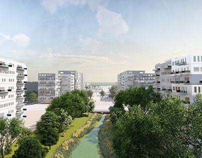 Landscape design of the new city of nador