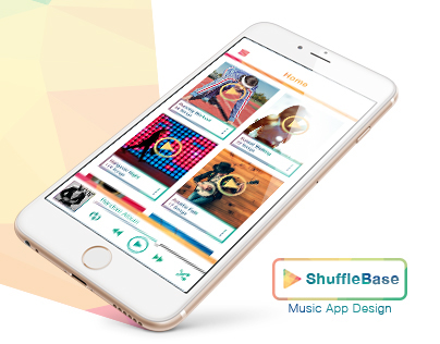Shuffle Base - Music App Design