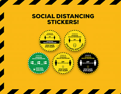 Social Distancing Stickers | Covid-19