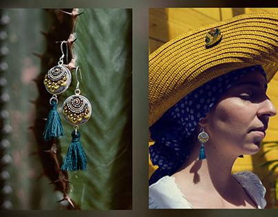campaing for ooliku - hand embrodied jewelry