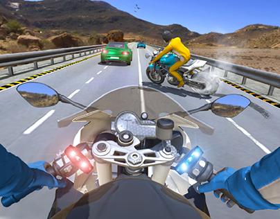Moto bike highway racing