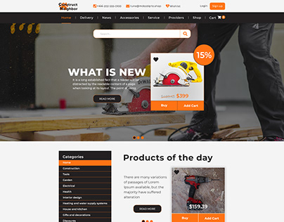 Site for construction stores or companies.