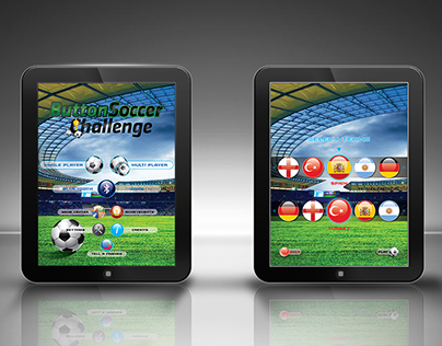 ButtonSoccer Challenge - iPad Game Menu Design
