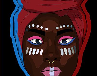 """""""Negra"""" Pintura digital."""
