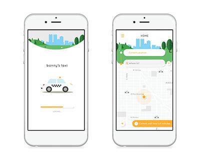 Bonny's Taxi App Redesign