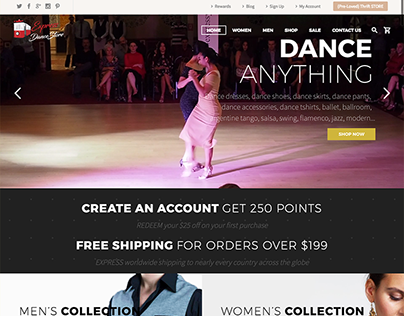 Express Dance Store Website & e-Shop Creation