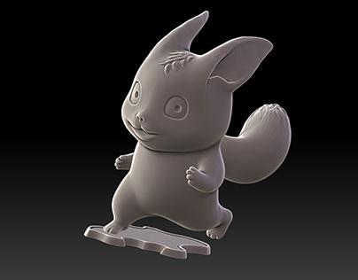 Cartoon Squirrel - Miniature Sculpture