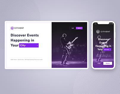 Responsive Design For City Event Website
