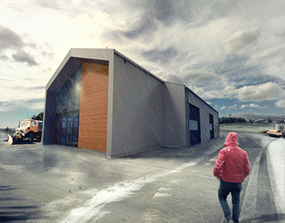 Hangar and office center in Mogilno