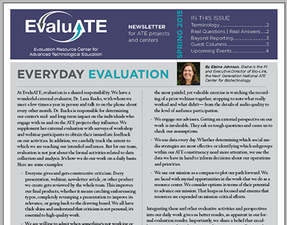 EvaluATE Newsletter