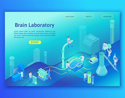 Laboratory isometric illustration