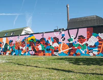 Harbour mural