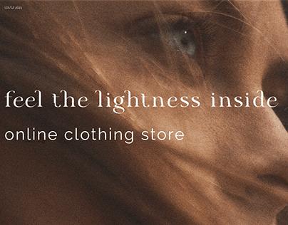 Website design / online store for woman / clothes shop