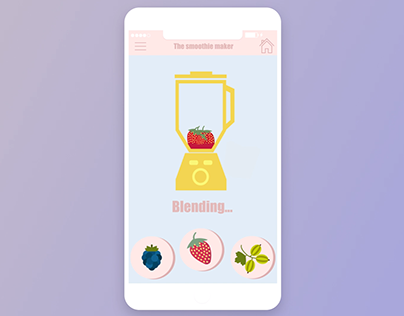 School project - smoothie app animation