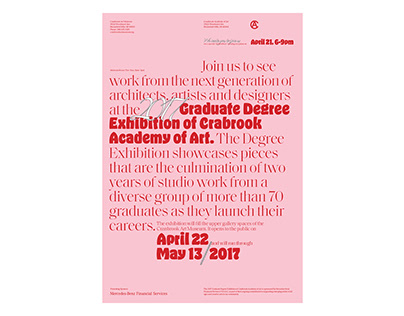 2017 Poster Proposal for Cranbrook Academy of Art