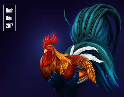 Rooster - Happy New Year 2017