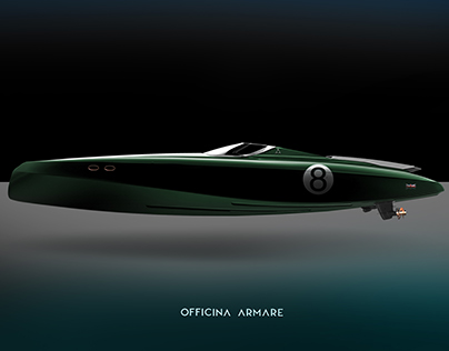 OFFICINA ARMARE HERON - MODERN RETRO YACHT CONCEPT BOAT