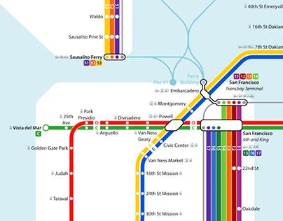 San Francisco Bay Area Crayon Map