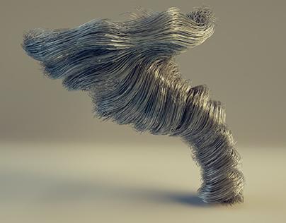 X-Particles Tornado