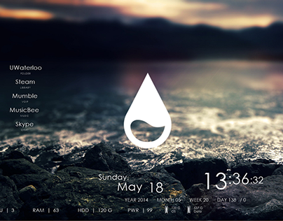 Clean Rainmeter Interface Design