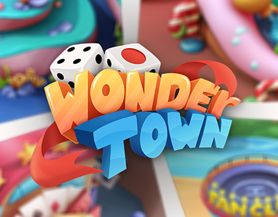 Wonder Town - Isometric City for Monopoly Chess Game