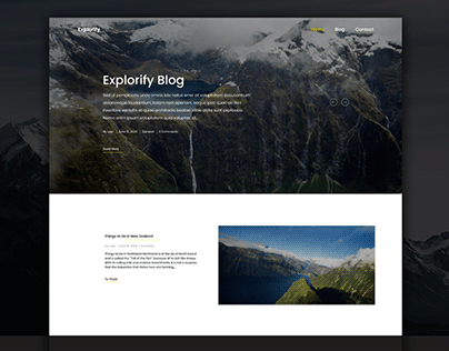 "Design for Travel Blog ""Explorify"""