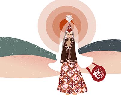 Kyrgyz ethno style