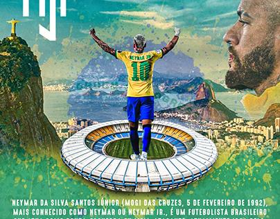 Flyer em homenagem ao Neymar jr